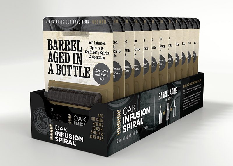 Barrel Aged in a Bottle Retail Display